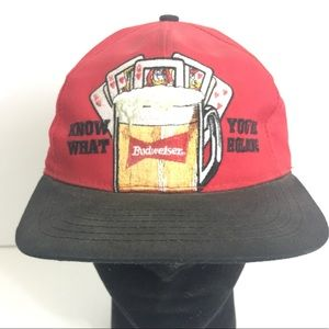 Budweiser OS Red Cards Beer SnapBack Throwback Hat
